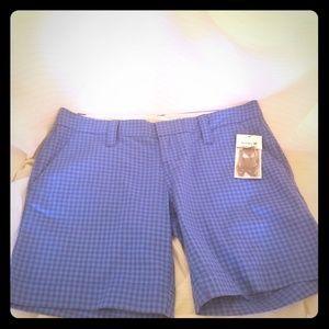 NWT Hurley Juniors Plaid Bermuda Shorts Size 3